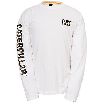 CAT Workwear Mens Custom Banner Shape Retaining Long Sleeved T-Shirt