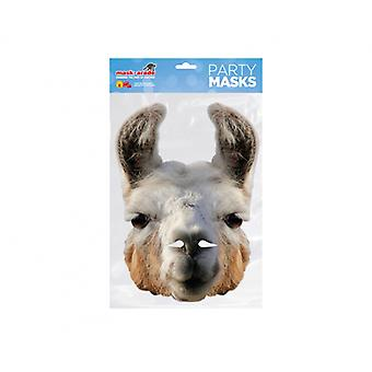 Llama Animal 2D Card Party Fancy Dress Mask