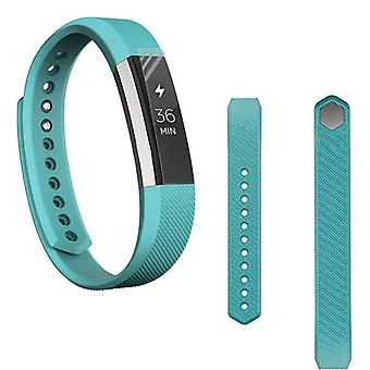 For Fitbit Alta HR plastic / silicone bracelet for women / size S turquoise watch