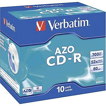 Verbatim 43327 Blank CD-R 80 700 MB 10 pc(s) Jewel case