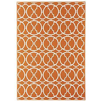 Utomhus mattan för terrass / balkong vitaminic sammanflätad Orange 133 / 190 cm matta inomhus / utomhus - för inomhus och utomhus