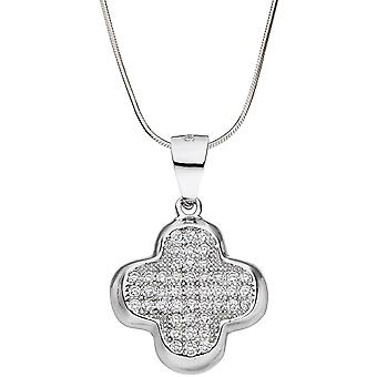 Charm 925 Sterling Silver Pendant with cubic zirconia silver