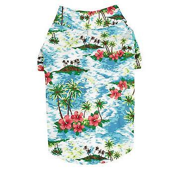 Casual Canine Hawaiian Breeze Camp Shirt XXS Blu