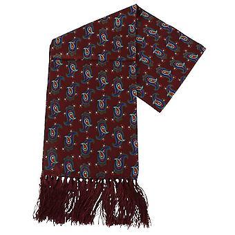 Knightsbridge cravatte Paisley Aviator sciarpa di seta - Borgogna