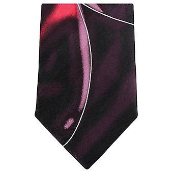 Knightsbridge dassen Water Swirl patroon stropdas - Bourgondië/roze