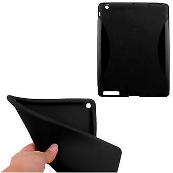 Soft TPU Shell iPad 2/3/4 Piano-Black Cover Black