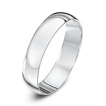 Stjärniga bröllop ringar platina ljus D 4mm vigselring
