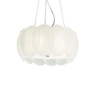 Idealne Lux - Ovalino mały wisiorek biały IDL074139