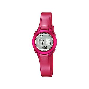Calypso-Unisex digital watch with LCD Digital Display and plastic strapping, color: pink, K5677/4
