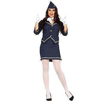 Womens flygvärdinna flygvärdinna Fancy Dress kostym