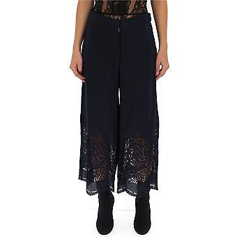 Stella Mccartney 554161sma154101 Women's Blue Silk Pants
