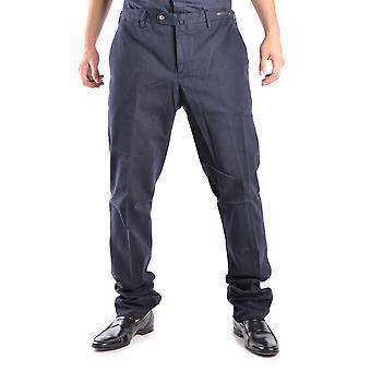 Pt01 Ezbc084002 Men's Blue Cotton Pants