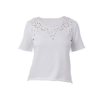 Ermanno Scervino D342l331hlm10601 Women's White Cotton T-shirt