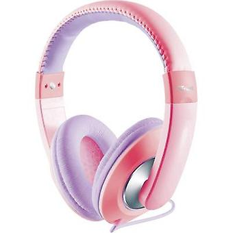 Trust Sonin Children Over-ear headphones Over-the-ear Volume limiter, Volume control Pink, Purple