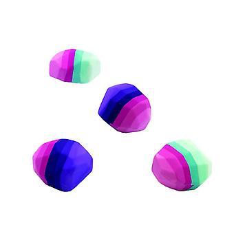 Set of 4 Rainbow Designed Erasers