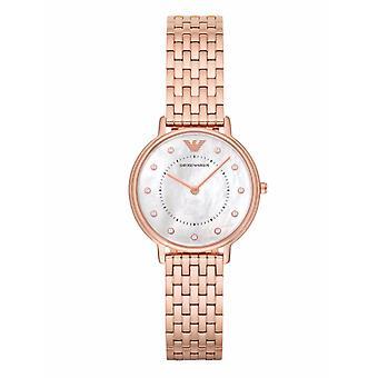 Emporio Armani Ar11006 rosa Senhoras relógio de ouro