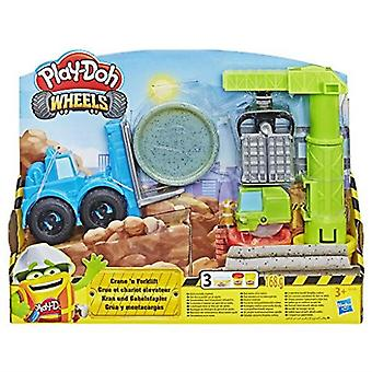 Play-Doh Wheels Crane And Forklift Construction Toy Set