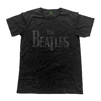 Beatles T skjorte slipp t bandet Logo offisielle Mens Vintage ferdig svart