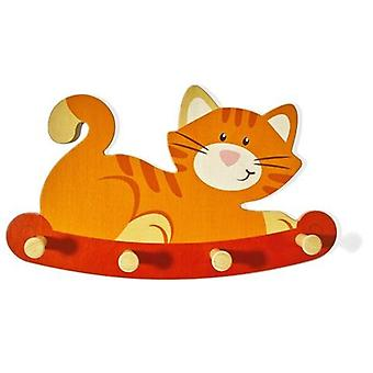 Weizenkorn Coat hanger Cat Wood