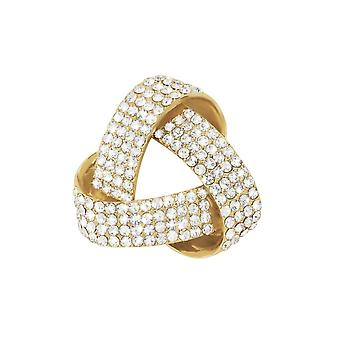 Eternal Collection Ravelle Crystal Gold Tone Scarf Clip