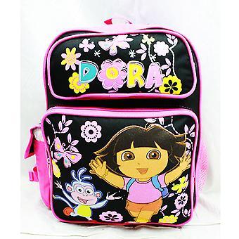 Medium Backpack - Dora the Explorer - Butterfly Black New School Bag a02678