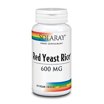 Solaray rode gist rijst 600mg capsules 60 (69474)