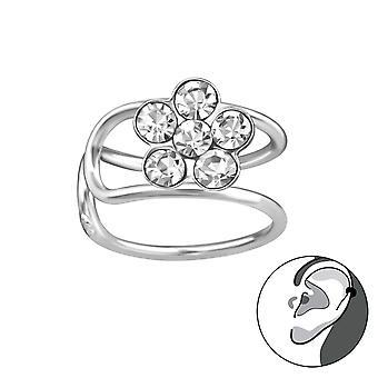 زهرة - 925 الأصفاد الفضة الأذن الاسترليني - W38117X