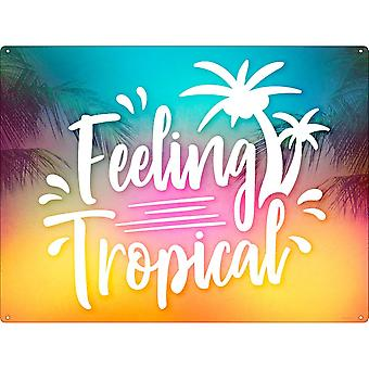 Grindstore Feeling Tropical Tin Sign