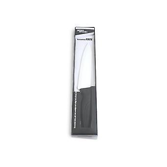 Keramisk kjøtt kniv svart/hvit 17 cm