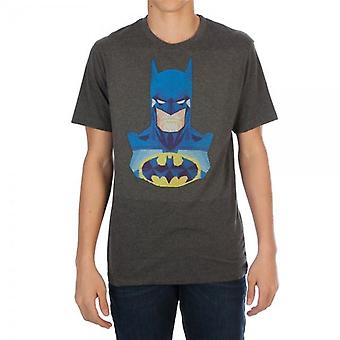 Batman Thread pixel Charcoal Men's T-Shirt