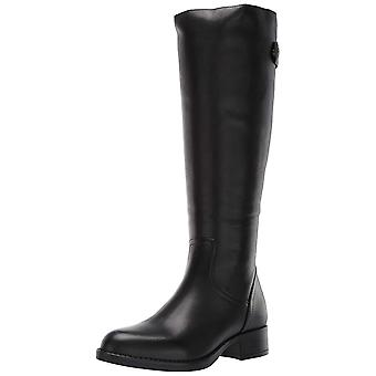 Steve Madden Womens journal Leather Almond Toe Knee High Cold Weather Boots