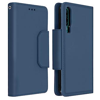 Custodia magnetica a folio per portafoglio staccabile per Huawei P30 - Blu scuro