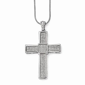 925 Sterling Silber Pave Rhodium vergoldet Hummer Kralle Verschluss und CZ Cubic Zirkonia simuliert Diamant poliert religiöse