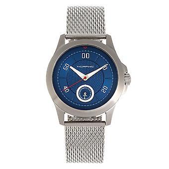 Morphic M80 Series Bracelet Watch w/Date - Silver/Blue