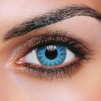 Solenergi blå färgade kontaktlinser (par)