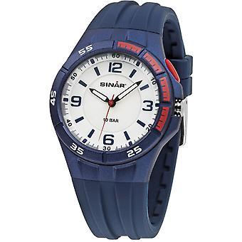 SINAR Youth Watch Wristwatch Analog Quartz Silicone Strap XB-38-2 Bleu / Rouge