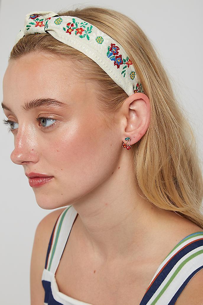 Louche Mekhi Flower Headband Cream