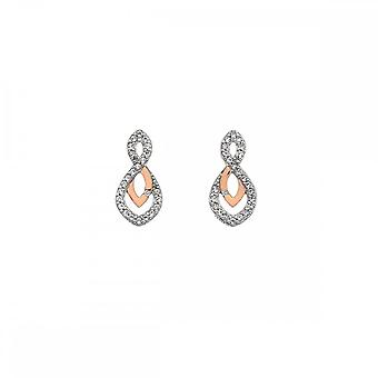 Hot Diamonds Harmony White Topaz Earrings Rose Gold DE608