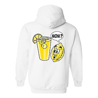 Men's Zip-Up Hoodie Funny Lemon Kid: Mom?