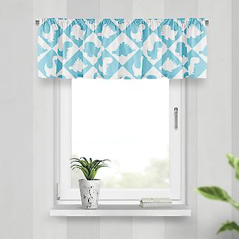 Meesoz Valance - Dinosaurs Tiles Blue