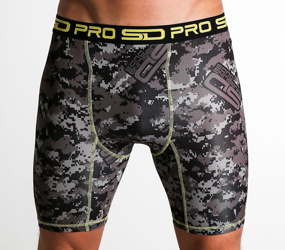 SD Pro Range Compression Shorts - Carbon Digi-cam