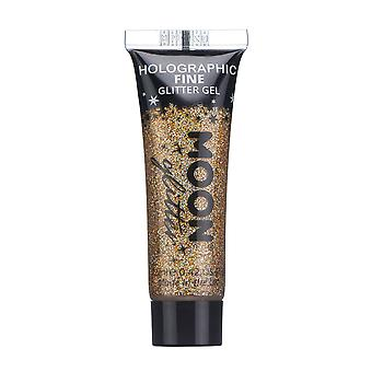 Holographische Gesicht & Body Glitter Gel von Mond - 12ml - Glitzer Rose Gold - Glitter Gesicht malen