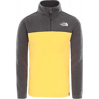 North Face Youth Glacier Full Zip - XS/L - TNF Yellow