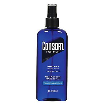Consort for men hair spray, non-aerosol, extra hold unscented, 8 oz