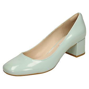 Dames Clarks Smart midden hak Hof schoenen Chinaberry Gem