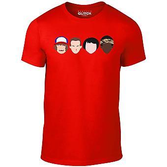Homens ' s estranho enfrenta t-shirt