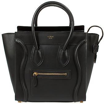 Celine Micro Luggage Handbag | Smooth Black Calfskin