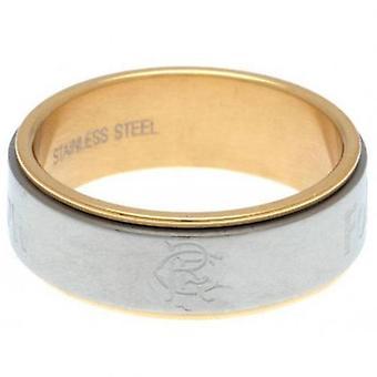 Rangers Bi Colour Spinner Ring Medium
