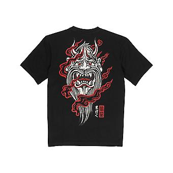 Element Demon Keeper T-Shirt de manga curta em Flint Black