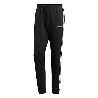 adidas Essential 3-Stripe Mens Tapered Tracksuit Pant Trouser Black/White